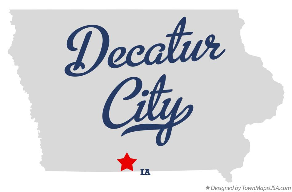 Map of Decatur City Iowa IA