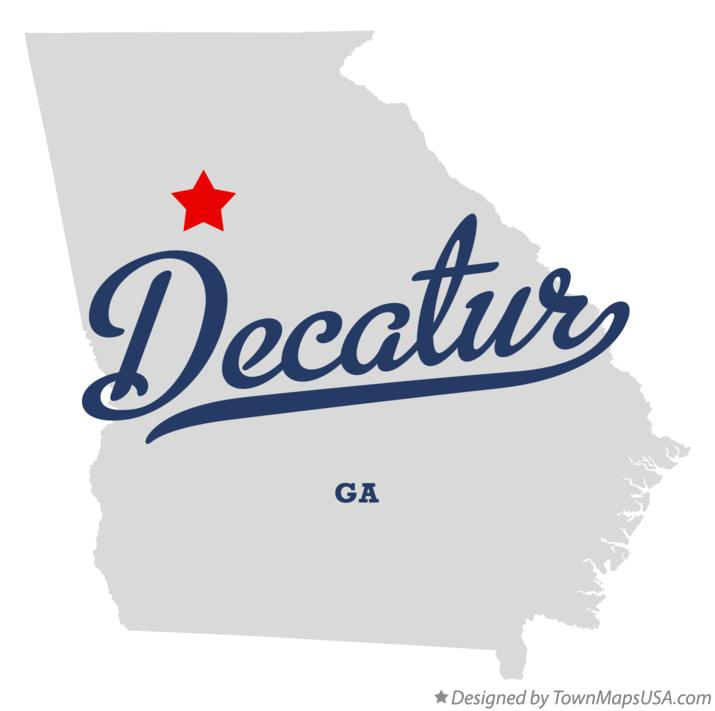 Map Of Decatur Ga Georgia
