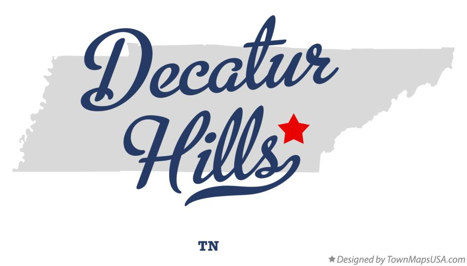 Map of Decatur Hills Tennessee TN