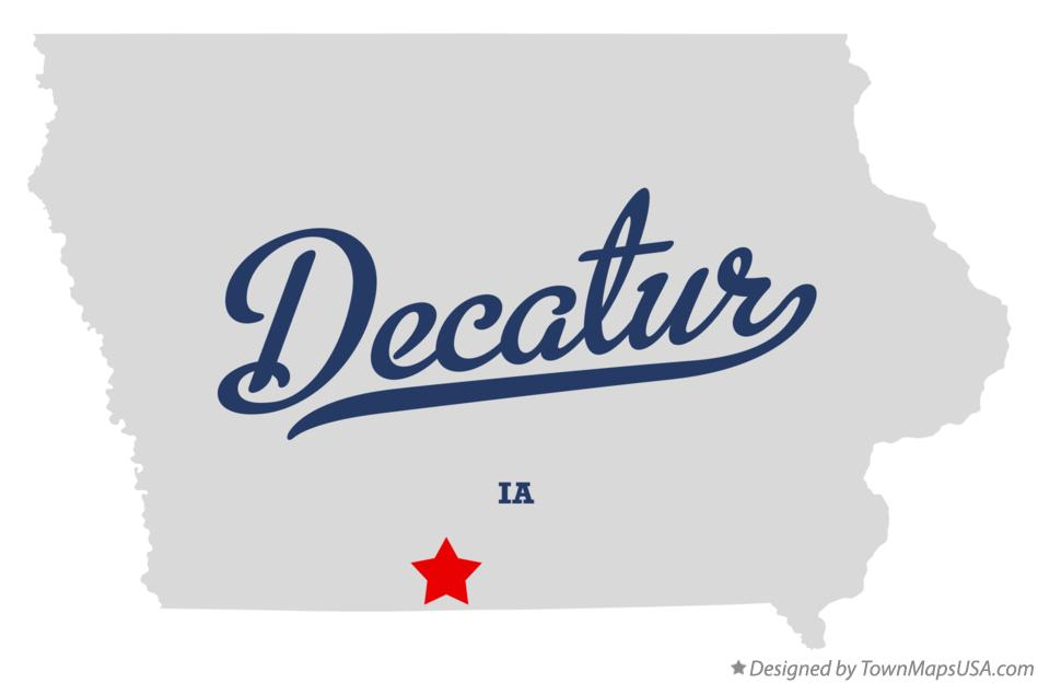 Map of Decatur Iowa IA