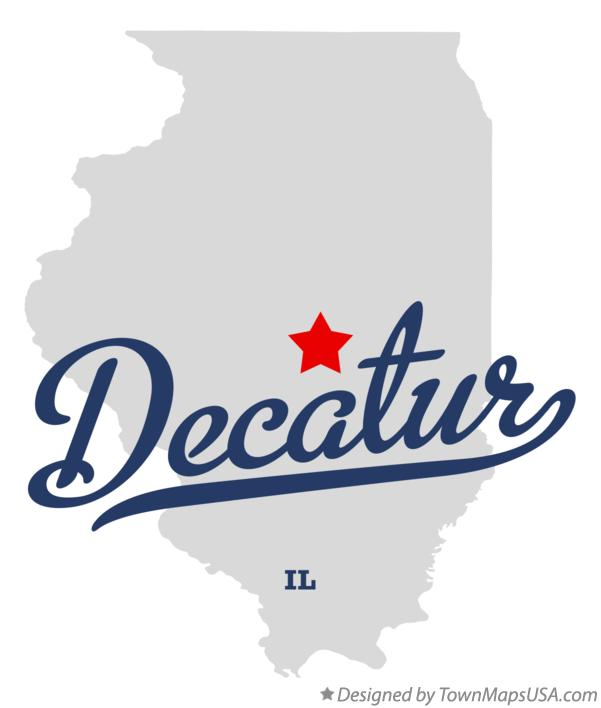 Map of Decatur, IL, Illinois
