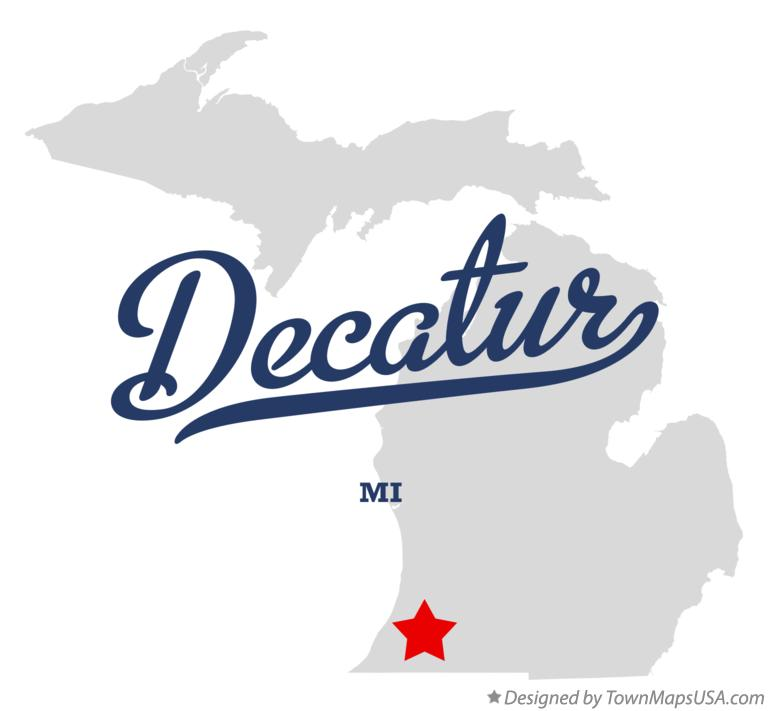 Map of Decatur Michigan MI
