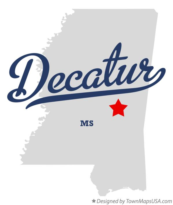 Map of Decatur Mississippi MS