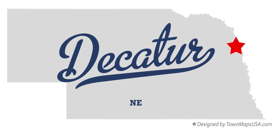 Map of Decatur Nebraska NE