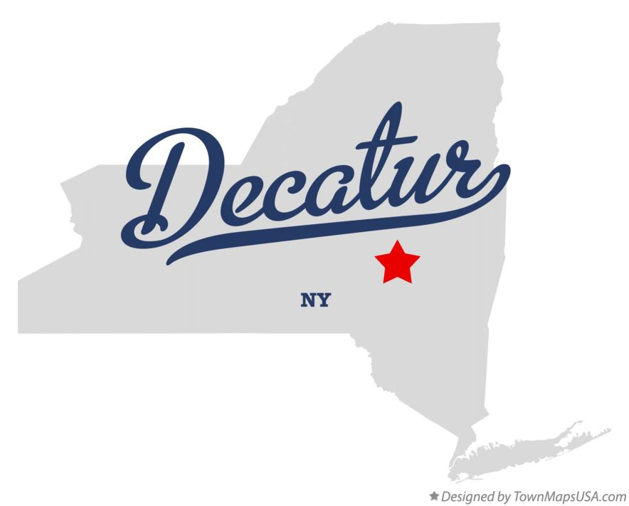Map of Decatur New York NY