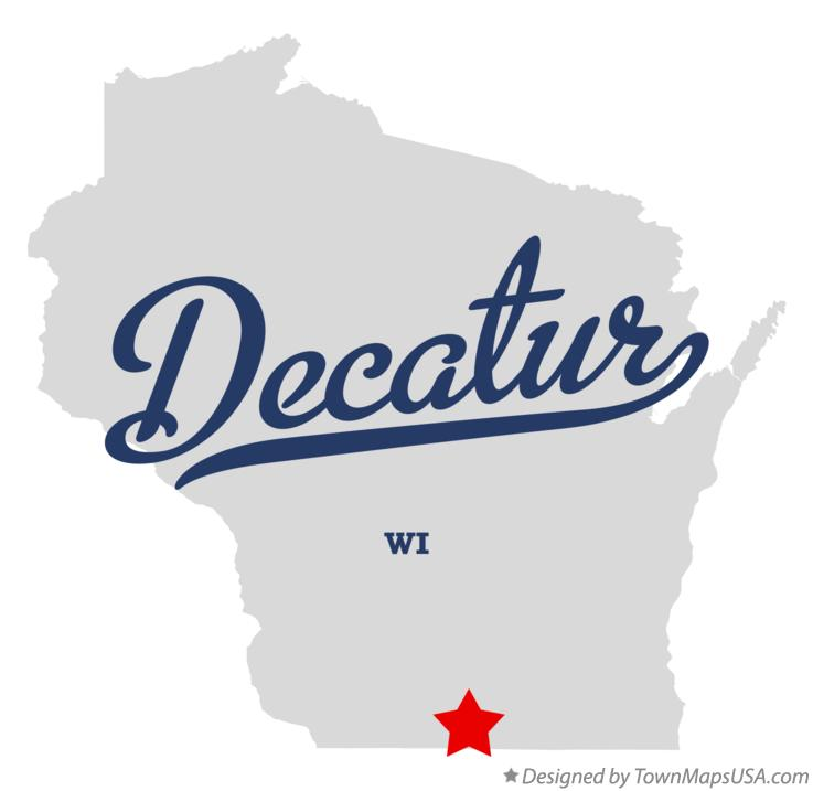 Map of Decatur Wisconsin WI