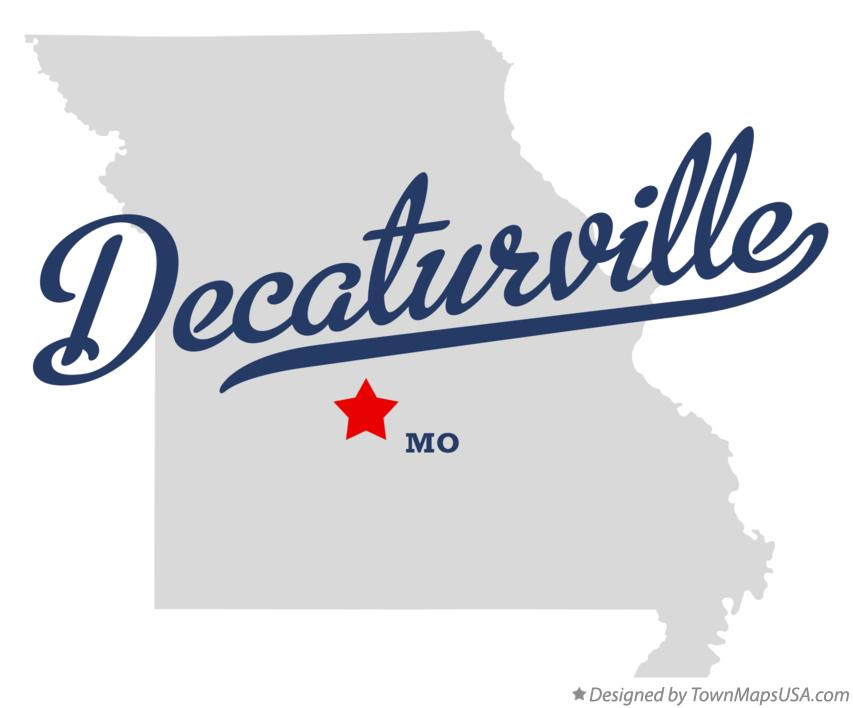 Map of Decaturville Missouri MO