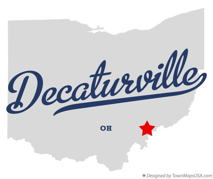 Map of Decaturville Ohio OH