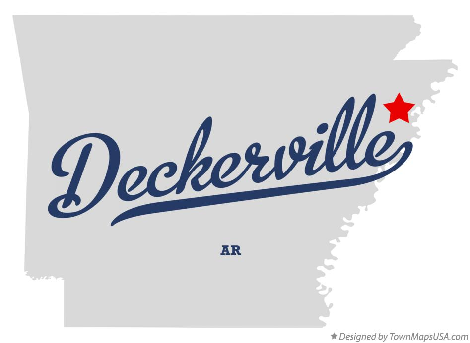 Map of Deckerville Arkansas AR
