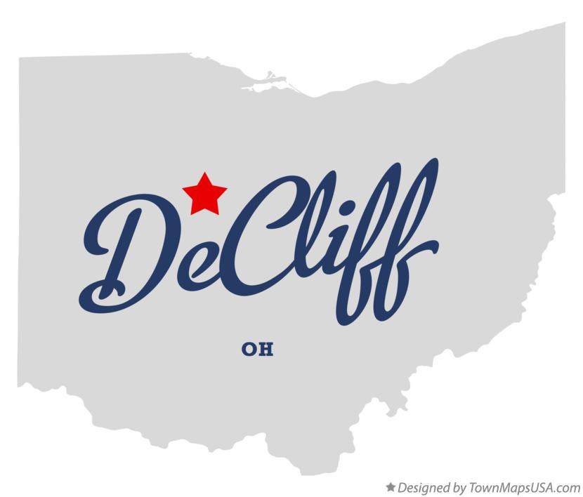 Map of DeCliff Ohio OH