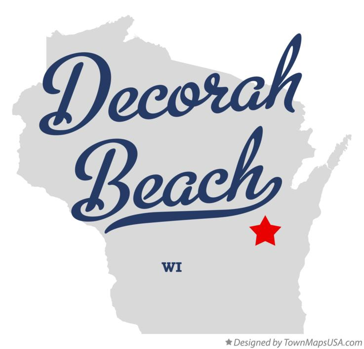 Map of Decorah Beach Wisconsin WI