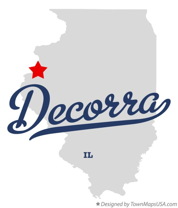 Map of Decorra Illinois IL