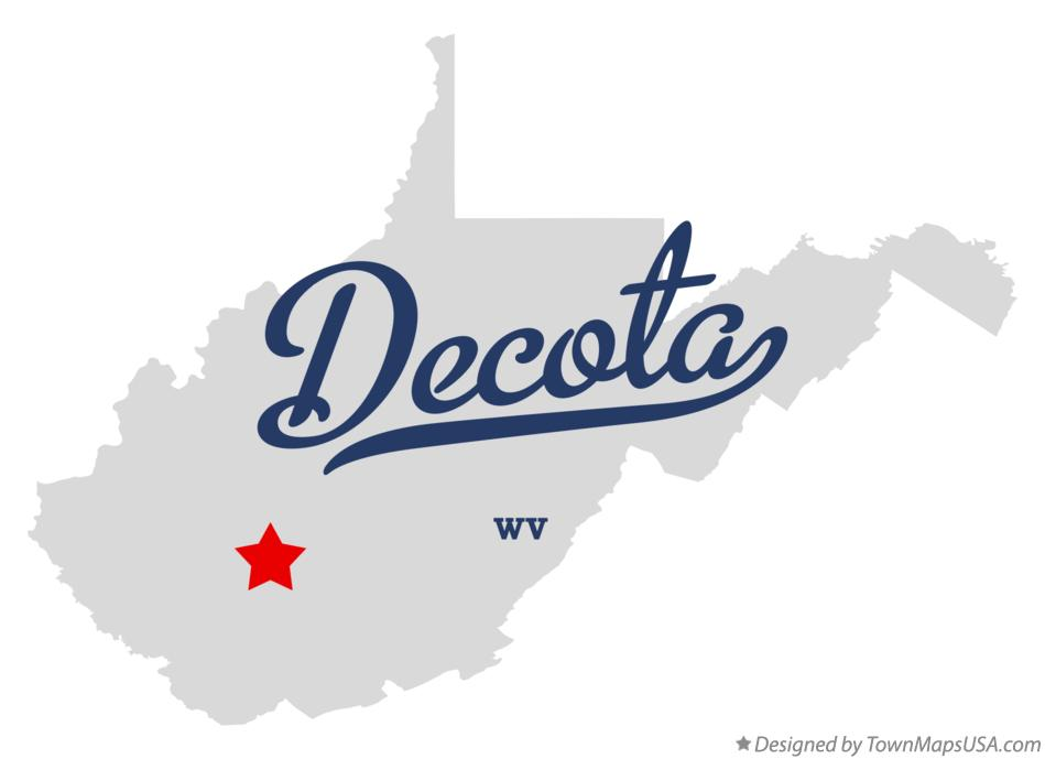 Map of Decota West Virginia WV