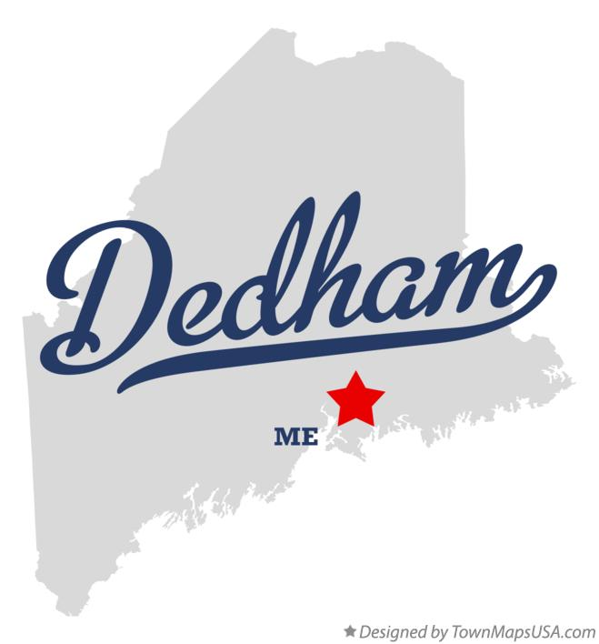 Map of Dedham Maine ME