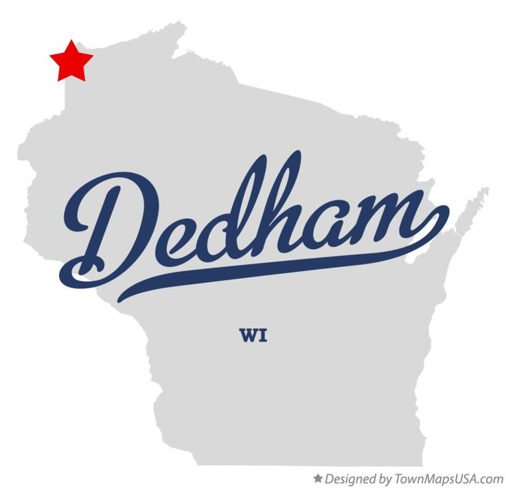 Map of Dedham Wisconsin WI