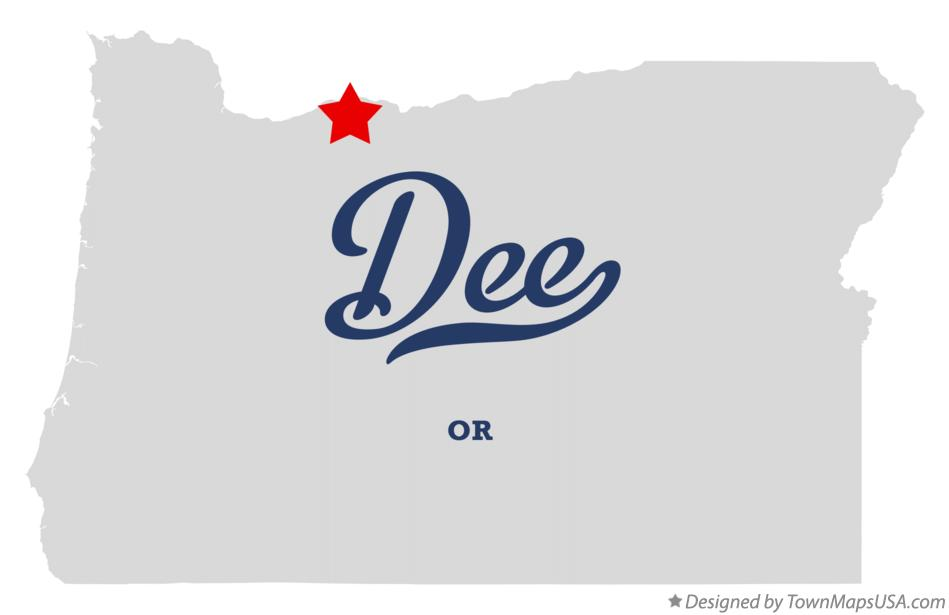 Map of Dee Oregon OR