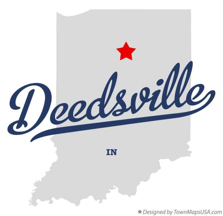 Map of Deedsville Indiana IN