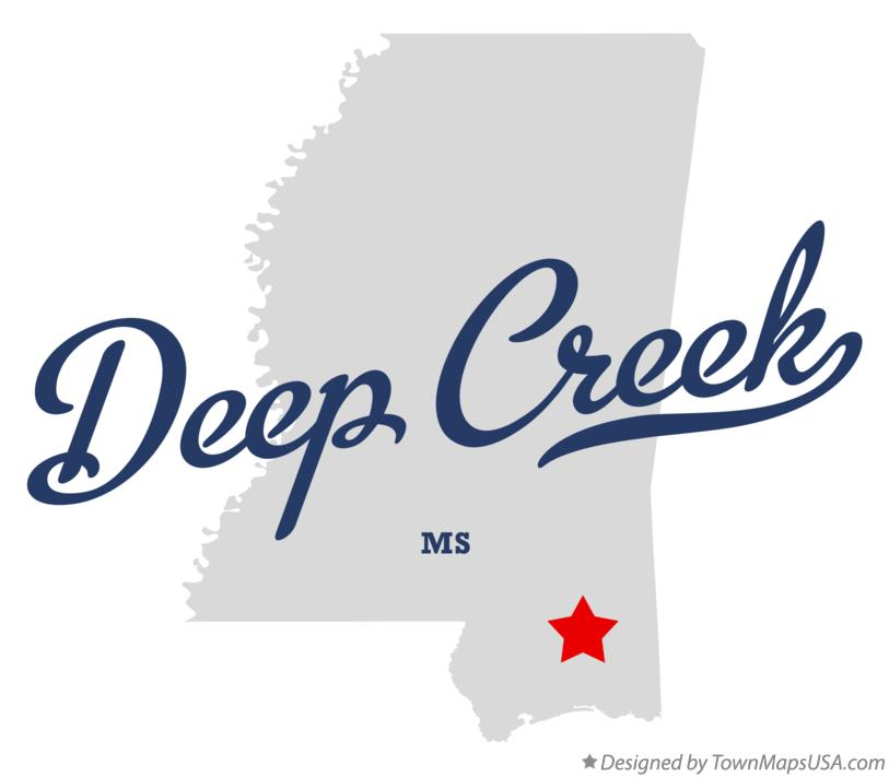 Map of Deep Creek Mississippi MS