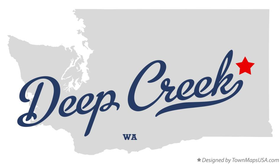 Map of Deep Creek Washington WA