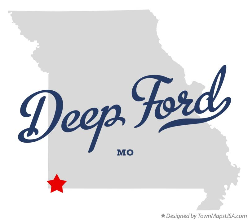 Map of Deep Ford Missouri MO