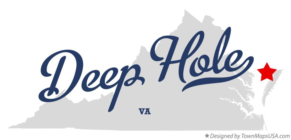Map of Deep Hole Virginia VA