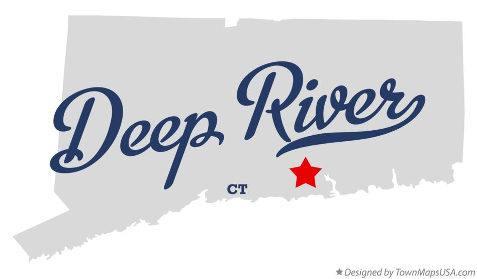 Map of Deep River Connecticut CT
