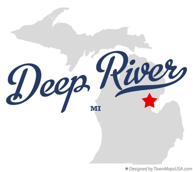 Map of Deep River Michigan MI