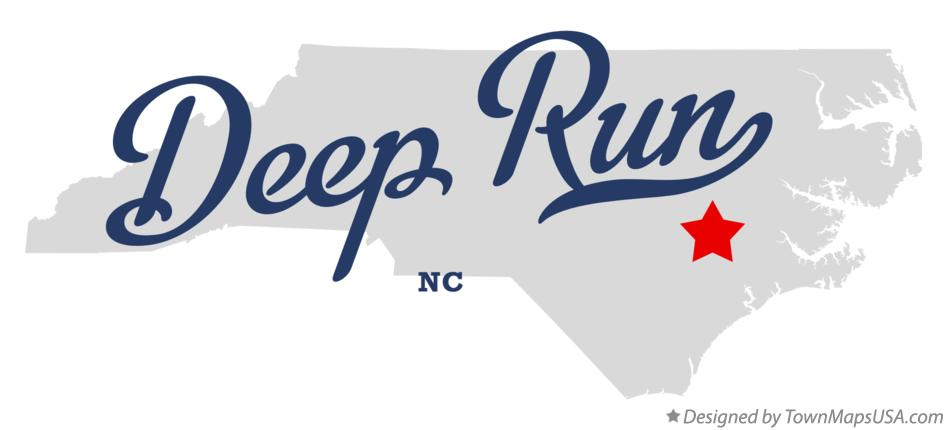 Map of Deep Run North Carolina NC