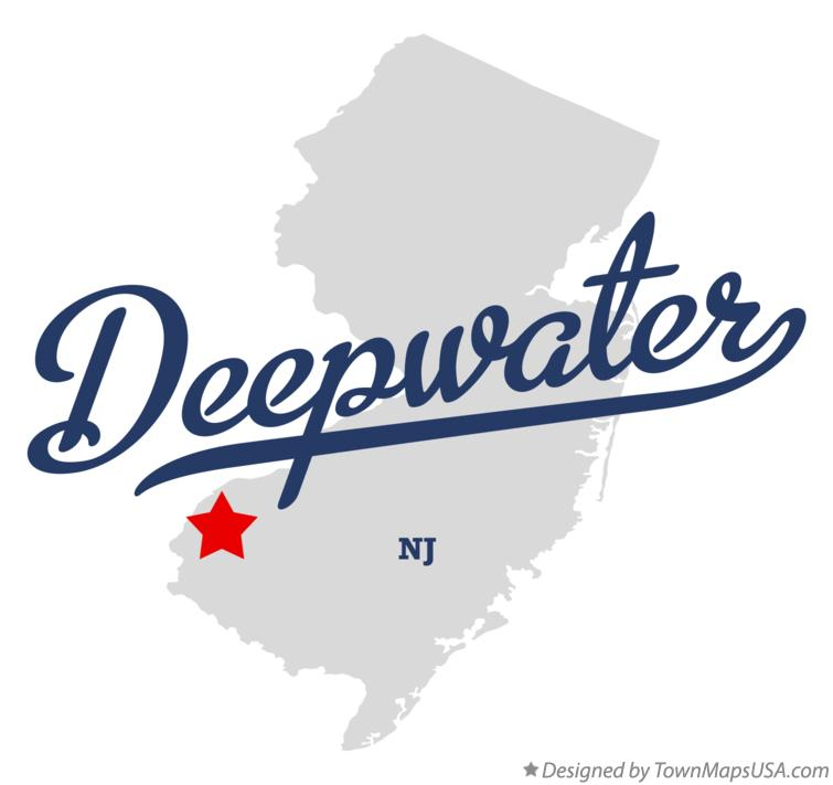 Map of Deepwater New Jersey NJ