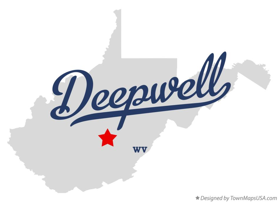 Map of Deepwell West Virginia WV