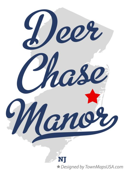 Map of Deer Chase Manor New Jersey NJ
