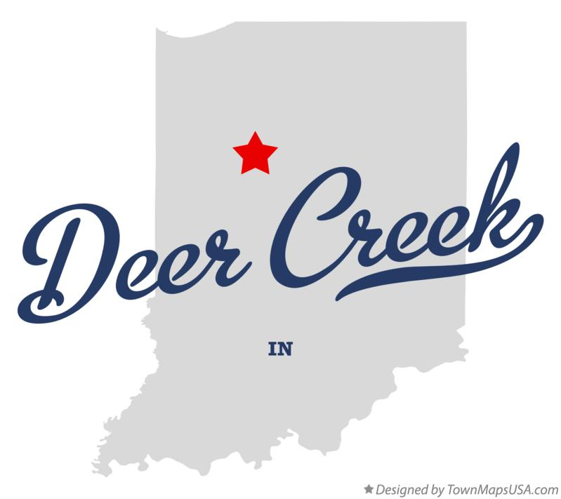 Map of Deer Creek Indiana IN