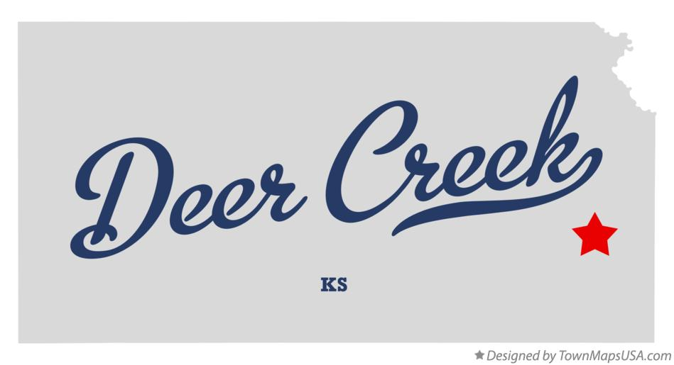 Map of Deer Creek Kansas KS