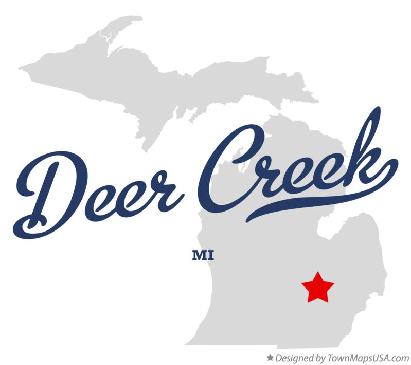 Map of Deer Creek Michigan MI