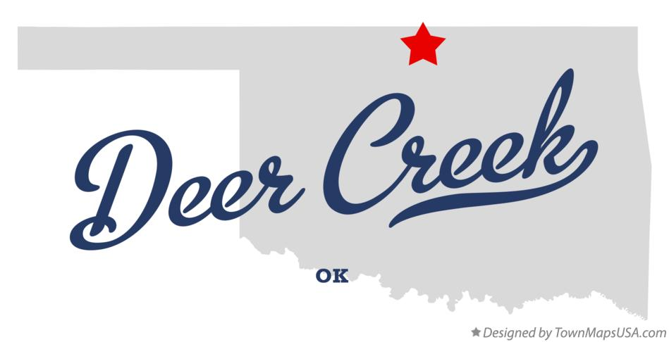 Map of Deer Creek Oklahoma OK
