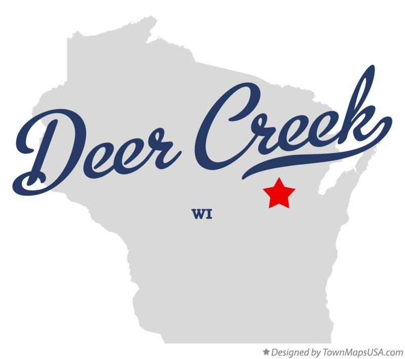 Map of Deer Creek Wisconsin WI