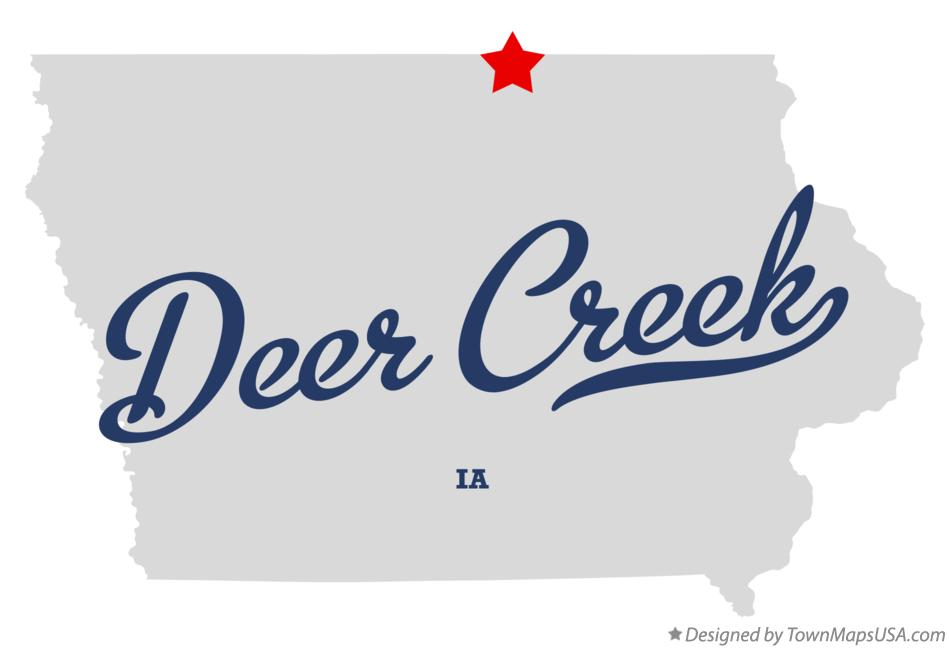 Map of Deer Creek Iowa IA