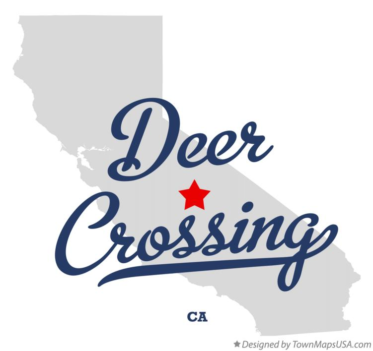 Map of Deer Crossing California CA