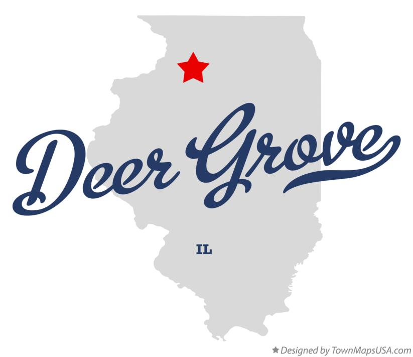 Map of Deer Grove Illinois IL