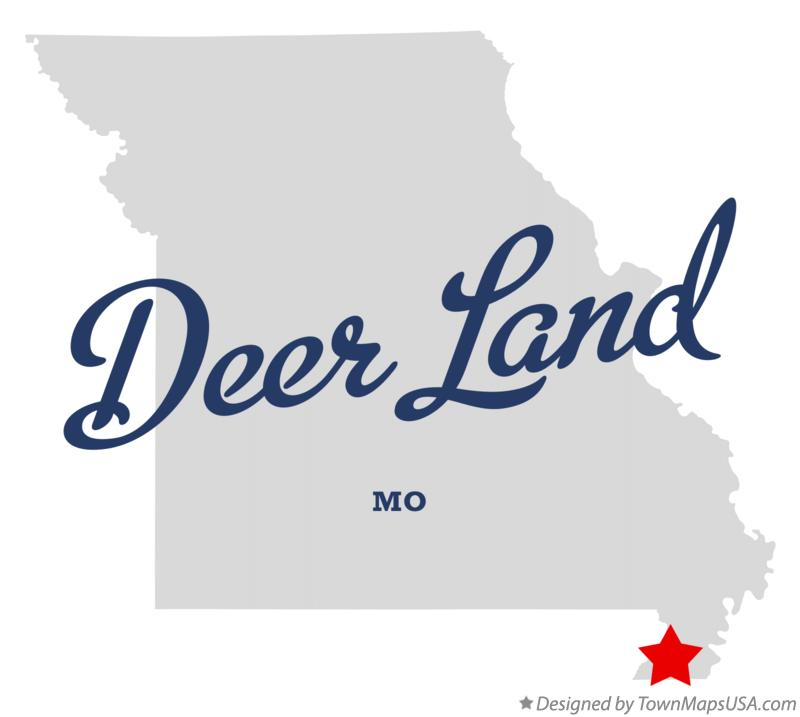 Map of Deer Land Missouri MO