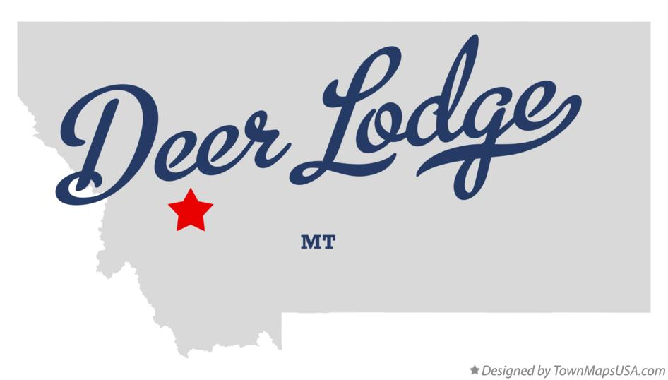 Map of Deer Lodge Montana MT