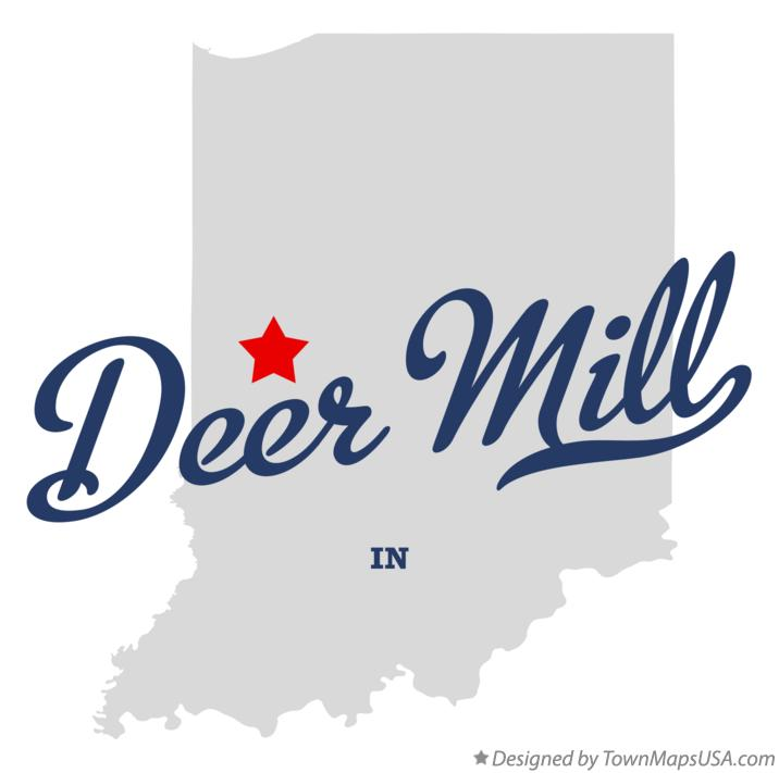 Map of Deer Mill Indiana IN