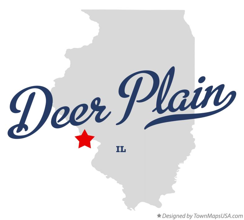 Map of Deer Plain Illinois IL