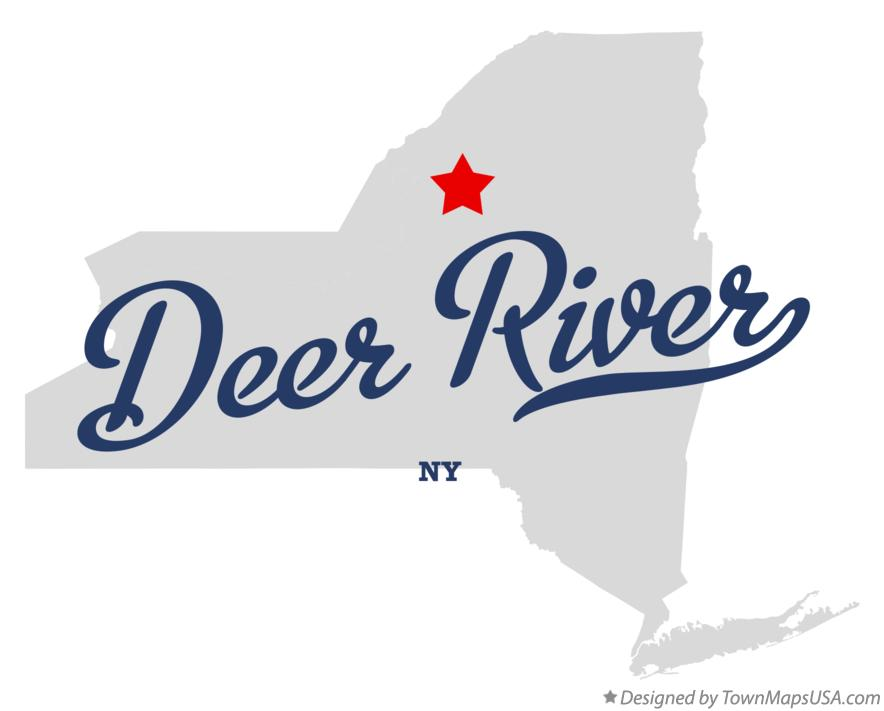 Map of Deer River New York NY