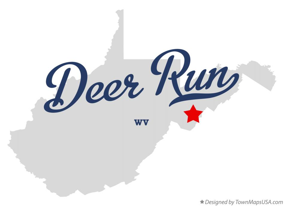 Map of Deer Run West Virginia WV