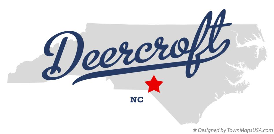 Map of Deercroft North Carolina NC