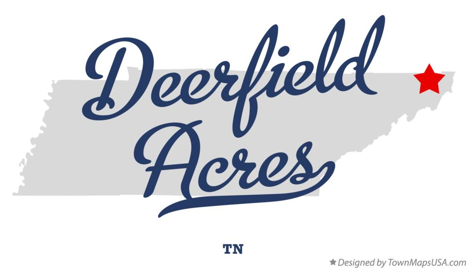 Map of Deerfield Acres Tennessee TN