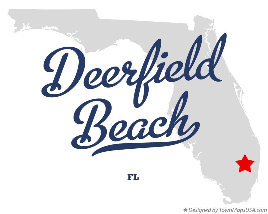 Map of Deerfield Beach, FL, Florida Deerfield Beach Florida Map on