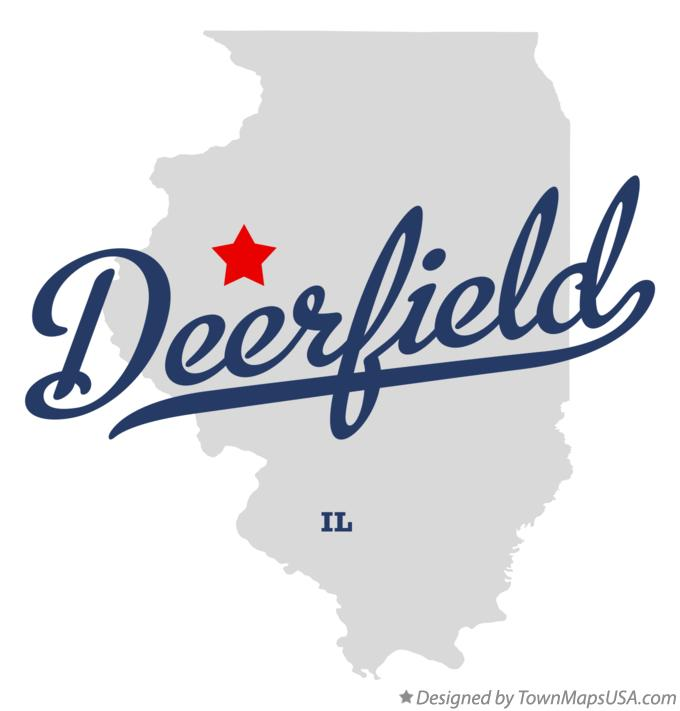 Map Of Deerfield Fulton County Il Illinois