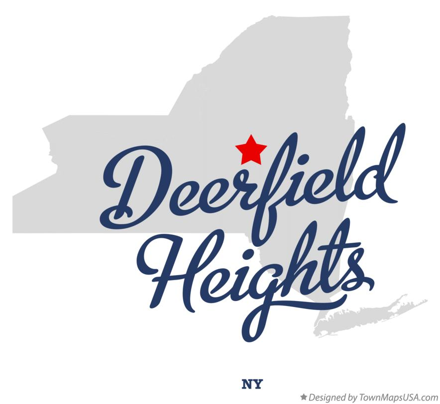 Map of Deerfield Heights New York NY